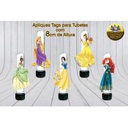Apliques Ou Tags Para Tubetes Princesas Disney