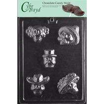 Molde Para Chocolates Catrina, Calaveras, Dia De Muertos