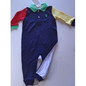 Macacão Polo Ralph Lauren Quadricolor Bebe Enxoval 9 Meses