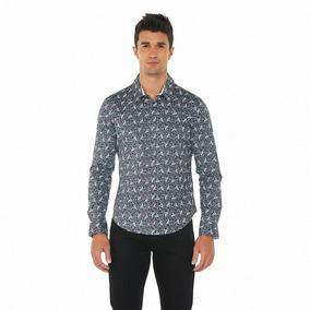 Camisa Oggi Ml X1541301 Gris Hombre