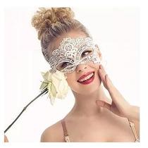 Sexy Antifaz Encaje Blanco Disfraz Máscara Carnaval Cosplay