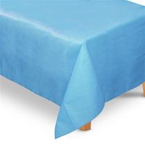 Toalha De Mesa Tnt Retangular Azul Claro 1,40m X 2,00m
