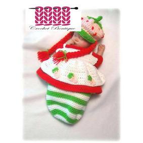 Crochet Bebe Disfraz Rosita Fresita