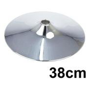Base Disco Cromada 38cm Para Banquetas Giratórias Base Disco