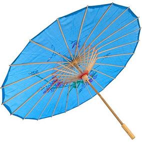 Paraguas Chino Japonesa Sombrilla En 22 L Azul 157-12