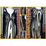 Saco Kimono Tejido Crochet Hilo Algodon Con Seda Krocheta