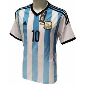 Jersey Argentina Local Con Messi 10 Envio Gratis