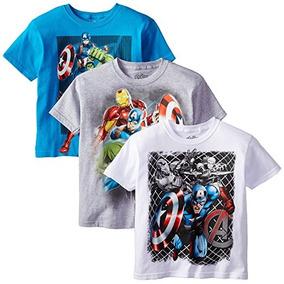 1ff1801e4b Kit 3 Camisas Estampadas Marvel