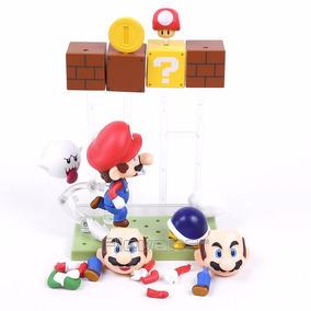 Boneco Super Mario Bros Nendoroid 473 Toad Koopa Boo