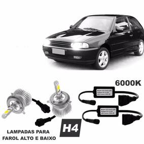 Kit Xenon Super Led Gol G2 1995 / 2003 Farol Alto / Baixo H4