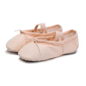Zapatillas De Media Punta De Lona Ballet. Ultimas Piezas