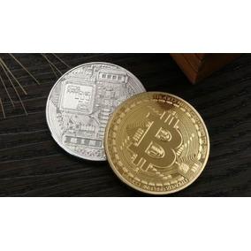 5 Moedas Bitcoin Física Ouro Dourada Btc Comemorativa