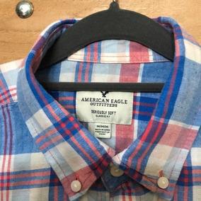 9e298ee75 Camisa American Eagle - Camisa Manga Curta Masculinas Azul no ...