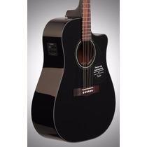 Fender Cd60 Ce Bk Electroacustica Corte Eq Fishman Y Estuche