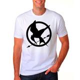 Camiseta Branca Jogos Vorazes Logo Em Chamas A Esperança 536