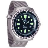 Reloj Alemán Diver Submariner Buceo 100 Atm Xl Nuevo!!!