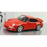 1998 Porsche 911 Turbo R En Rojo En Escala 1:18 Por Gt Spiri