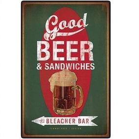 Placa Decorativa Metal Vintage Retro Seta Cerveja Beer Bar