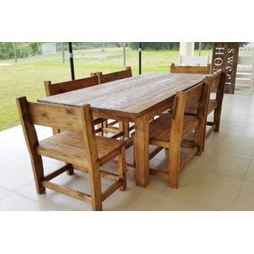 Mesa De Cocina De Madera Rustica - Todo para Cocina en Mercado Libre ...