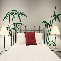 Adesivo Decorativo Cabeceira Bambu (46x40) Frete Grátis