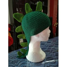 Gorro A Crochet Dinosaurio