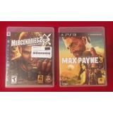 Mercenaries 2 + Max Payne 3 - Combo Físico Ps3 - Juegazos!!!