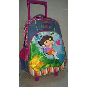 Mochila Escolar Primaria Dora Exploradora Rueda Gel 3d