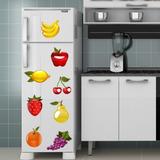 Adesivo Decorativo Geladeira - Frutas 2 Tamanho P