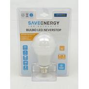 Lâmpada De Emergência  Neverstop  8w Luz Branca Saveenergy / Não Fique No Escuro, Mesmo Sem Energia Elétrica