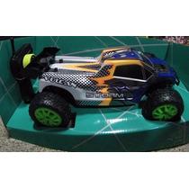 Carro Speed Truck Ruedas Verdes A Control Remoto 4x4