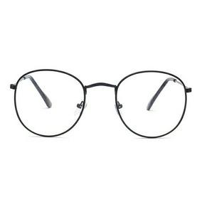ed59a7a74a899 Gafas Hipster Semi Redondas Para Lectura. Marco Color Negro.