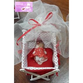 Bebés En Catre Para Nacimientos O Bautismos - Porcelana Fria