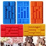 Molde Forma Silicone Lego Blocos Para Chocolate Gelo Bolo