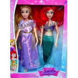 Muñeca Rapunzel Ariel Princesas Articula Juguete Niña Barbie