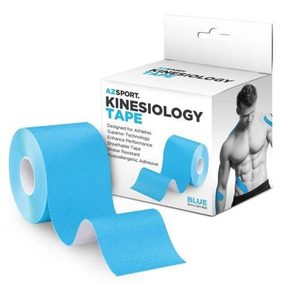 Azsport Kinesiology Tape Para Deporte Y Terapia En Azul