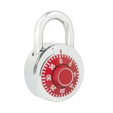 Candado De Combinación Disco 50mm Rojo L26s50rjb Lock