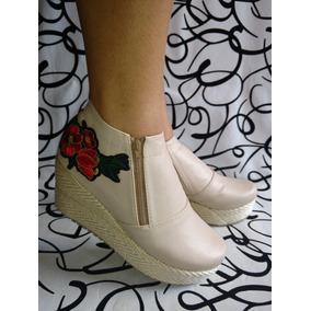Zapatos Botas Botines Colombianos Beige De Moda Envío Gratis