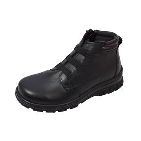 Zapato Escolar Bota Flexi 8-53304 Niño Negro Rudos