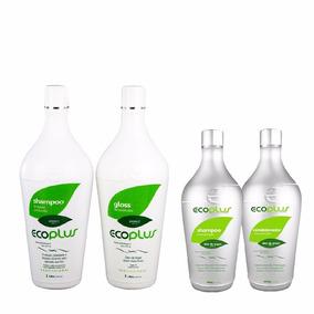 Kit Ecoplus Escova Definitiva +shampoo E Condicionador 400ml