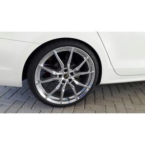 Jogo Roda E Pneus - Lamborghini Aventador Aro 20 - Cromada