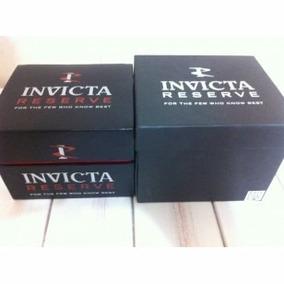 Caixa Do Relógio Invicta Reserve Com Manual E Certificado.