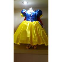 Vestido Princesa Blanca Nieves Con Zapatos Envio Gratis Dhl