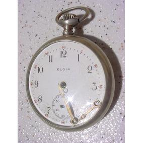 Antigo Relógio Bolso Corda Marca Elgin Ano 1940 (lê Anúncio)