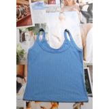 Blusa Azul Clara De Tiritas