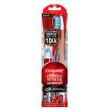 Colgate Escova Dental Luminous White Advanced + Caneta Branq