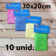 Kit C/ 10 Panos De Limpeza Geral Em Microfibra 30x20cm