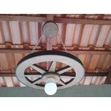 Luminária Roda De Carroça (2 Peças )