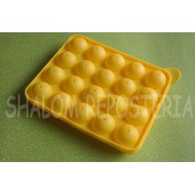 *molde Silicon 20 Esferas 3d Cake Pops Gelatina Choco Jabon*