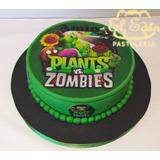 Tortas Decoradas Infantiles Plants Vs Zombies - Fototorta