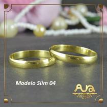 Alianças Ouro 12k 3mm Lisas-frete Grátis-12x S/juros Slim04